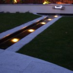Outdoor Garden Lighting in a Water Feature in a Garden in Castleknock, Dublin, Ireland