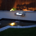 Outdoor Garden Lighting and a Water Feature in a Garden in Castleknock, Dublin