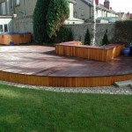 Hardwood deck and seat