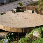 Deck over sewage tank