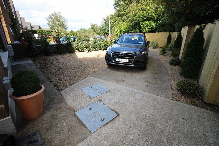 Driveway After Landscaping