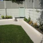 White Italian limestone path