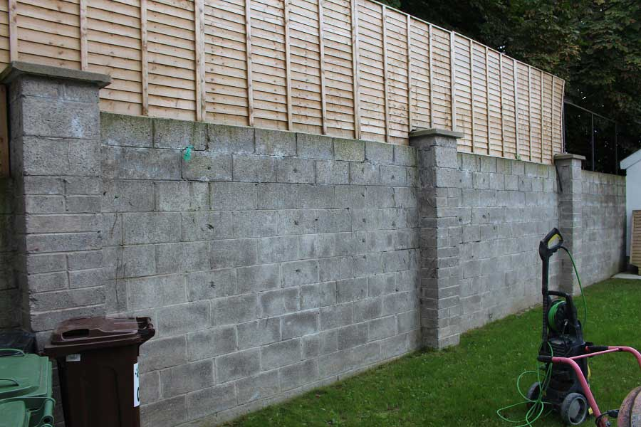 Walls Before Landscaping
